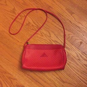 Vintage red leather Liz Claiborne crossbody